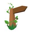 blank wooden signpost vector image