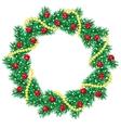 Christmas pine garland vector image
