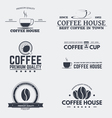 Coffee house emblems vector image