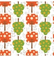 Colorful trees pattern vector image
