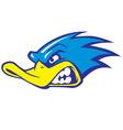 Fast duck mascot vector image