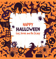 invitation for halloween party scary background vector image