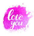 lettering with phrase i love you vector image
