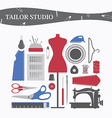 sewing equipment and needlework vector image