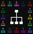 social network icon sign Lots of colorful symbols vector image
