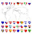 map ans flags vector image vector image