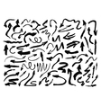 Hand drawn paintbrush arrows Grunge arrow vector image vector image