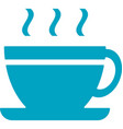 business networking coffee cup icon vector image