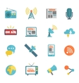 Media Flat Icons vector image vector image