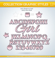 Girl Graphic Style for Design vector image