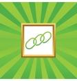 Chain picture icon vector image