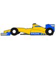 yellow formula car vector image