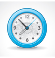 transparent modern clock vector image vector image