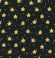 Abstract hand drawn seamless pattern with stars vector image