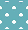 canada maple leaf pattern seamless blue vector image