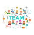 Concepts of word team Flat design banner for vector image