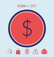 dollar symbol icon vector image