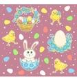 Easter cartoon set vector image