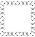 frame in the form of a square of decorative vector image