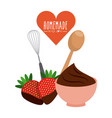 homemade with love design vector image