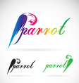 image of a parrot design on white background vector image