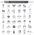 Party black icon set Dark grey classic vector image