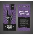 Rock party invitation vector image