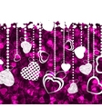 valentines day card template eps 8 vector image