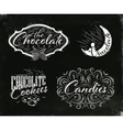 Set chocolate labels black vector image