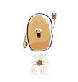 funny cartoon cute brown potato vector image