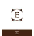 luxury initial letter e logo vector image vector image