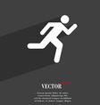 running man icon symbol Flat modern web design vector image