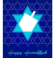 happy hanukah card vector image vector image