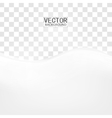 white of wavy banner vector image