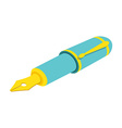 Isometric fountain pen on white background For web vector image