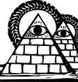 Masonic Pyramids vector image