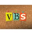 VBS Vacation Bible School vector image vector image