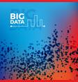 big data background vector image