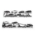 car transporter trucks vector image