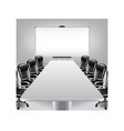 Empty meeting room and presentation board vector image