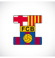 Football club barcelona vector image