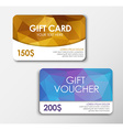 Polygonal gift card and voucher vector image