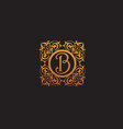 luxury initial letter b logo vector image vector image