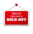 Shopping sign board vector image