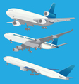 airplanes in 3D vector image