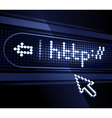 electronic led reader board vector image vector image