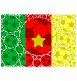 Cameroon soccer balls vector image