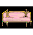 classical style sofa vector image