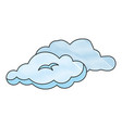 cloud weather draw vector image