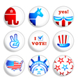 election badges vector image